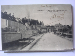 02 - OULCHY LE CHATEAU - AVENUE DE LA GARE ET ROUTE DE BRENY - ANIMEE - 1915 - France