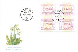 ALAND. 4 Timbres De Distributeurs De 1995 Sur Enveloppe 1er Jour. Mare Balticum 1995. - Aland