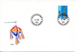 ALAND. N°10 De 1985 Sur Enveloppe 1er Jour. Mâts De La Saint-Jean. - Aland