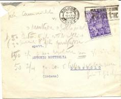 Q-ANNO SANTO 1950-20 CENT-SU BUSTA - 1946-60: Storia Postale