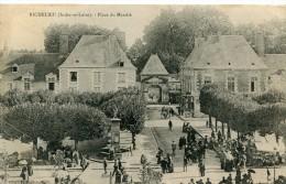 CPA 37 RICHELIEU PLACE DU MARCHE 1908 - Autres Communes