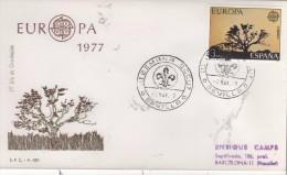 ESPANA  SEVILLA  Europa CEPT 1977 III° Semana Scout  2/05/77 - 1977
