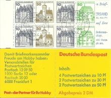 Bund -  MH 22af OZ, Gestempelt - Booklets