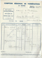 Facture/Café/Comptoir Régional De Torréfaction/Le HAVRE/1942      FACT71 - Food
