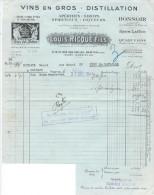 Facture/Vins En Gros/ Louis Ricque Fils/Apéritif/ PANTIN/Seine/1941      FACT72 - Food