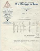 Facture/Conserves Fines/ A La Comtesse Du BARRY/ Gimont/GERS/1942      FACT73 - Food