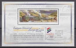 South Africa 1998 Ilsapex / Steam Powered Locomitives  M/s ** Mnh (20687) - Blokken & Velletjes