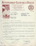 Appel De Cotisation/Automobile-Club De L'Ouest/LE MANS/Sarthe/1942      AC118 - Cars