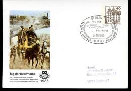 BERLIN PP80 C1/002 Privat-Postkarte POSTKUTSCHE Sost. Flugzeug 1985 - Diligences