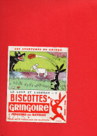 BUVARD - BISCOTTES GRINGOIRE - Le Loup Et L'Agneau - 2 -  Pithiviers En Gatinais - Biscottes