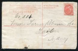 NEW SOUTH WALES REGISTERED STATIONERY RAILWAY GLEN BROOK 1888 - Postmark Collection