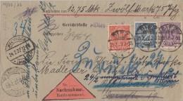 DR NN - Brief Dienst Mif Minr.D21, D22, D32 Diez 23.2.22 Irrläufer - Dienstpost
