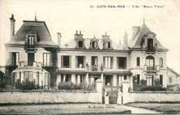 """N°5566A -cpa Lion Sur Mer -villa """"bella Vista"""" - France"""