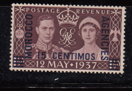 Morocco Agencies 1937 KGVI Coronation Sp Currency Mon Esp SG164 MNH - Non Classificati