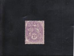 10C VIOLET ( II ) NEUF SANS GOMME N° 233 YVERT ET TELLIER 1927-31 - 1900-29 Blanc