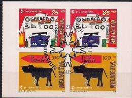"""2006 Schweiz Mi. 1987-8 FD- Used Booklet Set  Pro Juventute"""": Traumberufe; Weihnachten - Suisse"""
