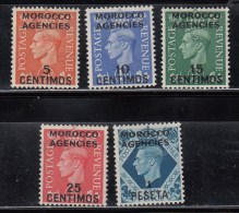 Morocco Agencies 1951 KGVI Sp Currency Mon Esp SG182-184+171 MH - Altri
