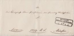 Preussen Brief Stempel R3 Berlin Potsdamer Bahnh: 2.9. Gel. Nach Münster  Militaria - Preussen