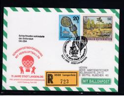 Ballonpost:   70 Jahre Stadt Langenlois 1995  OE-ZBA  R-Karte - Ballonpost