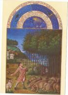 CPA - Peinture & Tableaux Art -Musée CONDE - CHANTILLY - Les Très Riches Heures Du Duc De Berry - La Glandée - Peintures & Tableaux
