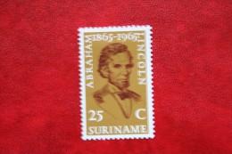 Abraham Lincoln ; NVPH 424 Mi 459 ; 1965 MH / Ongebruikt SURINAME / SURINAM - Surinam ... - 1975