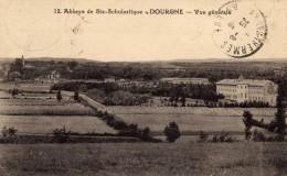12  - Abbaye De Ste-Scholastique  - Dourgne  - Vue Générale - Défaut Au Dos : Pétrole Hahn Contre Chute Cheveux - Dourgne