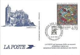 ENTIER POSTAL SOUVENIR PHILATELIQUE CATHEDRALE DE ST ETIENNE - Entiers Postaux