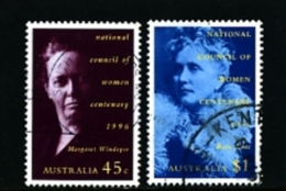 AUSTRALIA - 1996  NATIONAL COUNCIL OF WOMEN  SET FINE USED - 1990-99 Elizabeth II