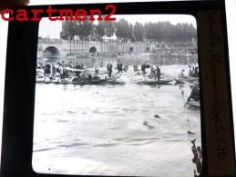 JOINVILLE-LE-PONT CHAMPIONNAT DU MONDE DE NATATION 1910 LA LUTTE SPORT 94 PLAQUE DE VERRE PHOTOGRAPHIE CLICHE UNIQUE - Glasplaten