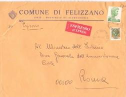 COMUNE DI FELIZZANO - 15023 - PROV ALESSANDRIA - EXP - ANNO 1980 - FTO 18X24 - TEMATICA TOPIC STORIA COMUNI D´ITALIA - Affrancature Meccaniche Rosse (EMA)