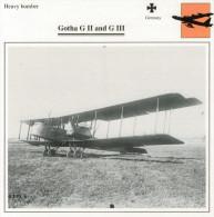 GOTHA G II  AND  G  III   (NUOVO CON DESCRIZIONE E SCHEDA TECNICA)  2 SCAN - 1914-1918: 1. Weltkrieg