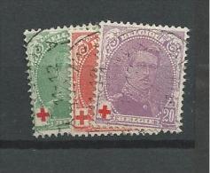 1914 USED Belgium, BELGIQUE, Gestempeld - 1914-1915 Red Cross