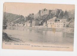 Bouillon - Le Chateau Vu De La Ville - Ed. Hotel Fortier - Circulé 1907 - Bouillon