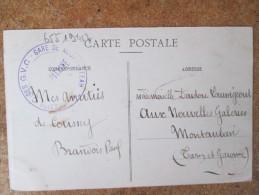 CPA NEUFCHATEAU CACHET SECTION DES GVC GARE DE NEUFCHATEAU - France