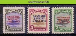 Nbu091 FAUNA ZEEHOND BEVRIJDING SEAL DANMARK WOII BEFRIET 5 MAJ 1945 OVERPRINT* MAMMAL MARINE LIFE GRONLAND 1945 ONG/MH
