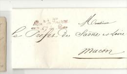 Cursive Du Ministre Des Finances. Pour Macon (Saone Et Loire). LAC De  1830. Nomination Du Directeur Des Postes à BUXY - 1801-1848: Precursors XIX