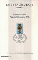 ALLEMAGNE  Carte  Notice 1er Jour  1975   Poste Royale - Post