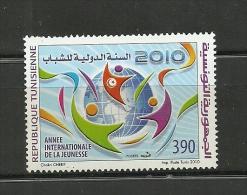 2010-Tunisia- Tunisie- International Youth Year-Année Internationale De La Jeunesse -1 V Complete Set  MNH** - Unclassified