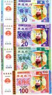 BILLETS DE BANQUE DE CULTE Chine  BANKNOTES OF WORSHIP China 10/20/50100/500/1000/5000/10000  HELL MONEY (lot De 8) - Specimen