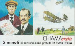 ITALY - Fratelli Wright-Wilburg E Orville Wright, Telecom Italia Promotion Prepaid Card, Tirage 3500, Mint - Avions
