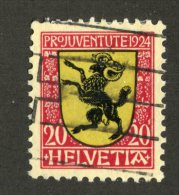 6543  Swiss 1924   Michel #211 I (o) White Spot On Tail  ( Cat.€20. )  - Offers Welcome! - Usati