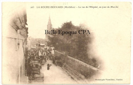 56 - LA ROCHE-BERNARD - La Rue De L'Hôpital - Un Jour De Marché +++ Phot. Vassellier, Nantes, #263 +++++ RARE / TOP - La Roche-Bernard