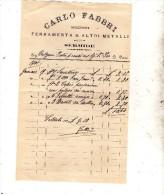 1901 CARLO FABBRI NEGOZIANTE IN SERMIDE MANTOVA - Italia