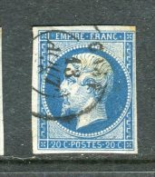 Superbe N° 14B Cachet à Date De Caen 1862 - 1853-1860 Napoleone III