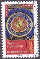 Oblitération Moderne Sur Adhésif De France N° 1022 - Renaissance, Le Gros-Horloge De Rouen - France