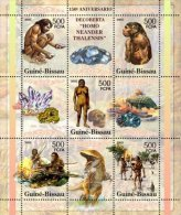 Guinea-Bissau 2005 Sheet/5+4 Labels-Prehistoric Dinosaurs Minerals Neaderthal  -Mi #3149-53 - Guinea-Bissau