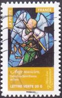 Oblitération Moderne Sur Autoadhésif De France N° 1019 - Renaissance, Ange Musicien, Cathédrale Saint-Etienne De Sens - France