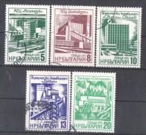 50-689 // BG - 1976  SOZIALISTISCHE INDUSTRIE   Mi 2496/2500 O - Gebraucht