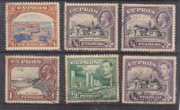 Cyprus,  George V& George VI 1935, 6 Used Stamps - Cyprus (...-1960)