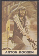 ANTON GOOSEN, (1946-) Film Aker & The Father Of Afrikaans Rock,  Signed Photo Card - Autographs